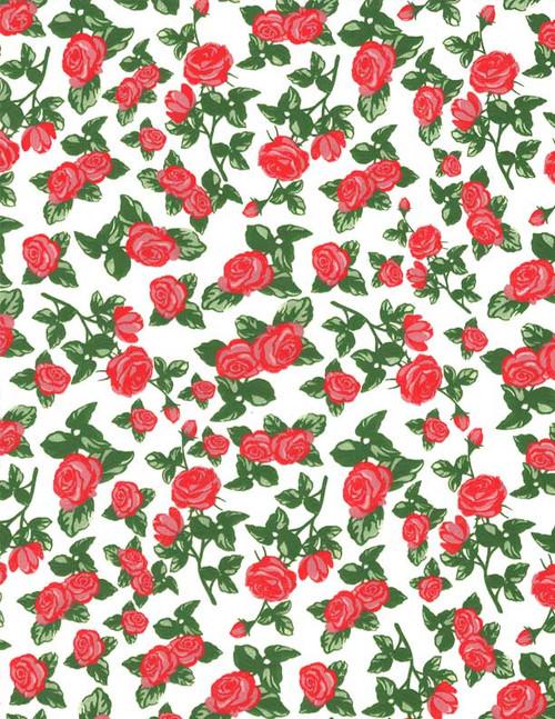 Rose Full Color Underglaze Decal 19 x 13 in
