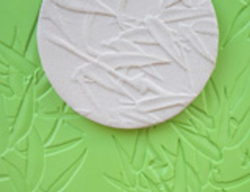 Bamboo Texture Mat Set of 2 - 8 x 12 Plastic