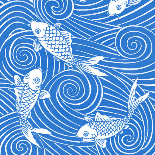 Carp 2 Underglaze Decal 10 x 7 in