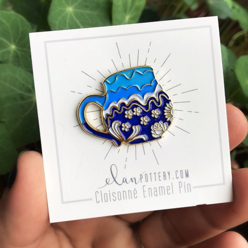 Pins - Blue Flower Mug