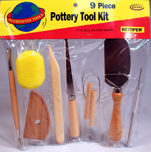Economy 9 piece Pottery Tool Kit