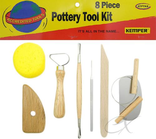 Economy 8 piece Pottery Tool Kit