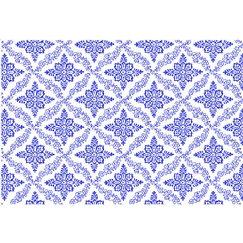 DC 10010 Flowers Blue Underglaze Decal 18 X 14