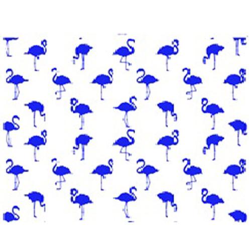DC 10011 Flamingos Blue UnderglazeTransfer18 X 14