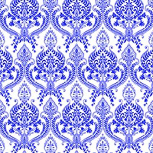 DC 10012 Crown Pattern Blue UnderglazeTransfer18 X 14
