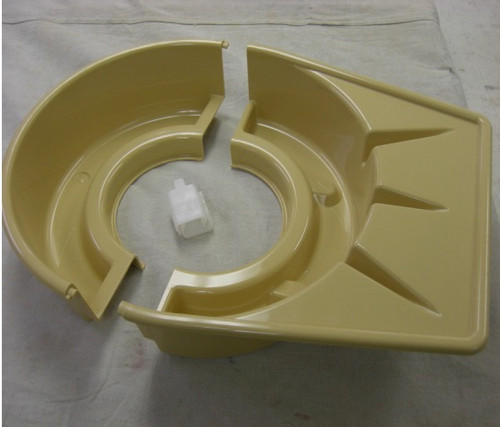 Shimpo Two-piece splash pan with clips