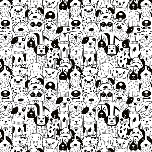 Groovy Dogs 19x13