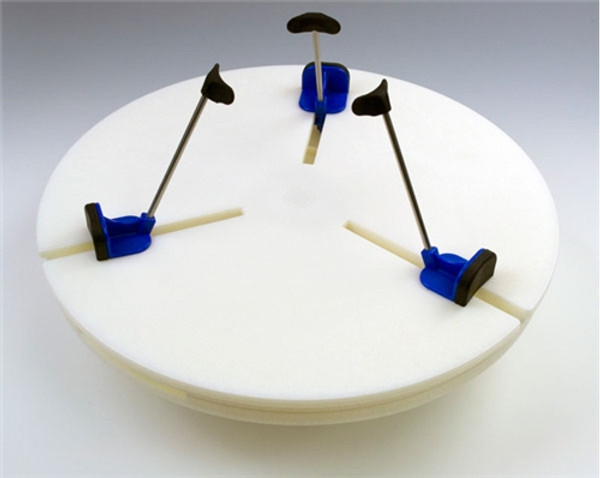 Giffin Grip Model 10 with blue sliders - CLOCKWISE for Japanese Wheels/Lefties