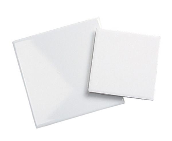 """4.25"""" x 4.25"""" White Glazed Tile - each"""