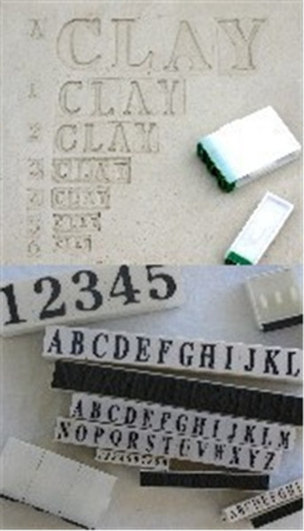 """Rubber Stamps Letters SL10-3 (set of 26) 3/8"""""""