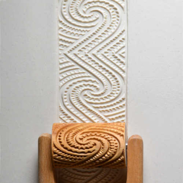 RL-023 Maori Spirals - 6 cm Roller