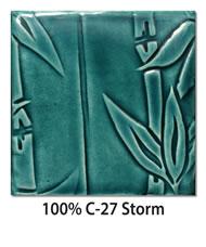 Tile glazed with 100-percent C-27 Storm