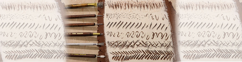 Sgraffito Tools for pottery at Bracker's Good Earth Clays