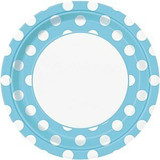 Baby Blue Dots Party Supplies
