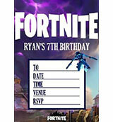 Personalised Party Invitations