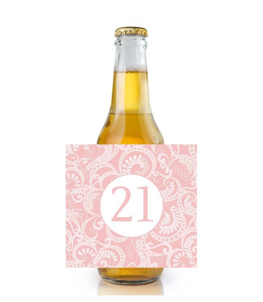 6PK Pink Age Beer Labels