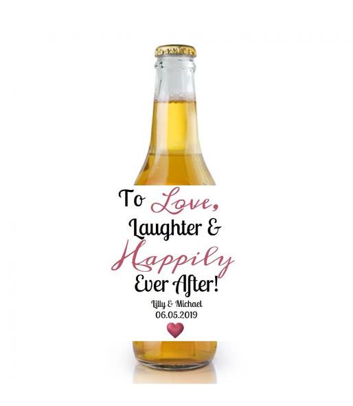 6PK Wedding Beer Labels