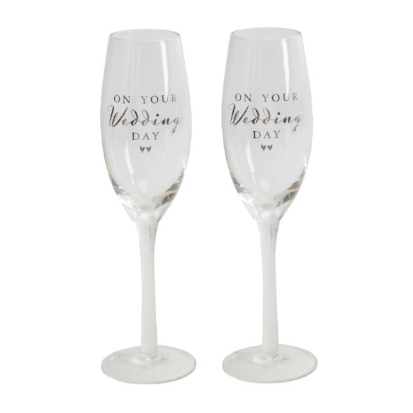 Wedding Day Champagne Flutes