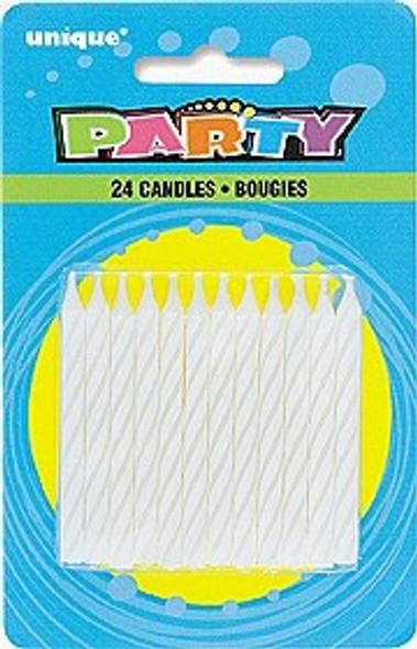 White Birthday Candles