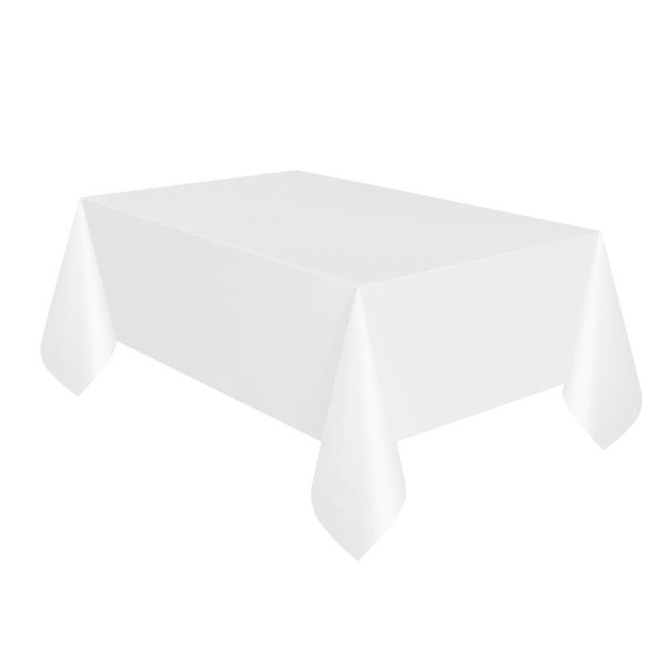 White Plastic Tablecovers