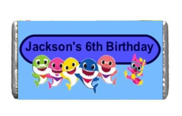 7Pk Baby Shark Chocolate Bars