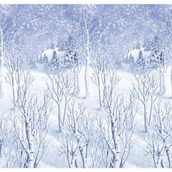 Winter Scene Room Roll