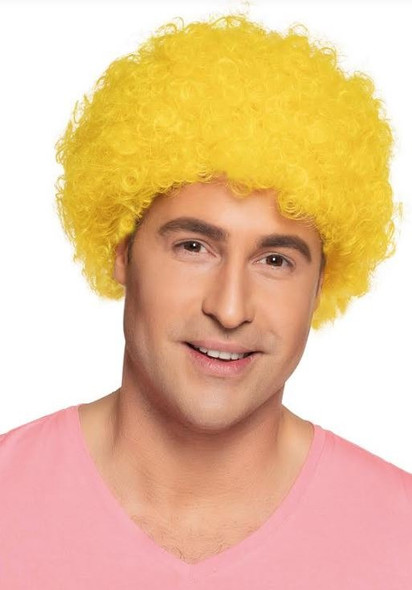 Yellow Curly Clown Wig