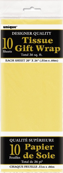 Yellow Tissue Gift Wrap