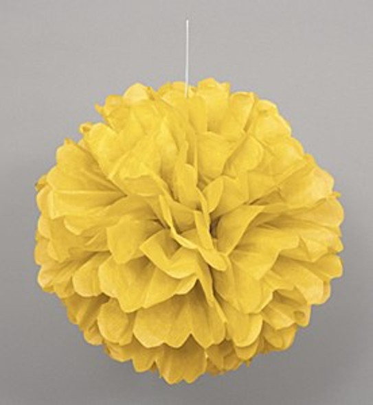 Yellow Puff Ball Decoration