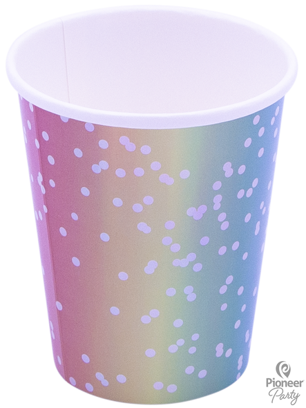 Rainbow Ombre Party Cups