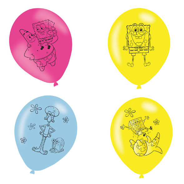 Spongebob Party Balloons