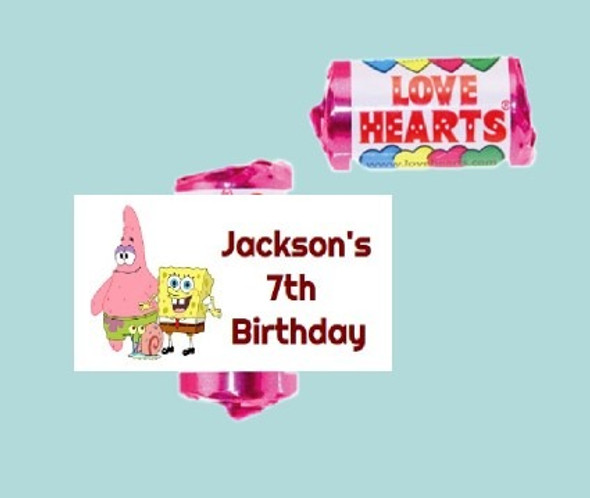 9Pk Spongebob Lovehearts