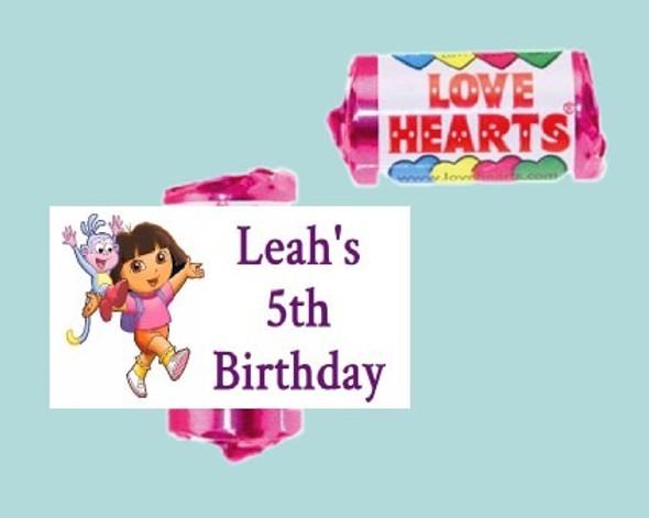 9Pk Dora Love Heart Sweets
