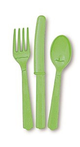 Lime Green Party Cutlery