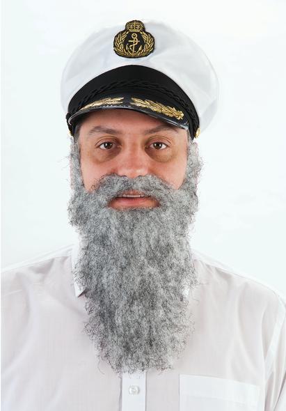 Grey Moustache & Beard