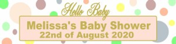 Personalised Hello Baby Banner