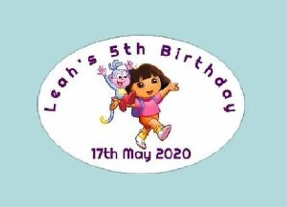 8Pk Personalised Dora Labels