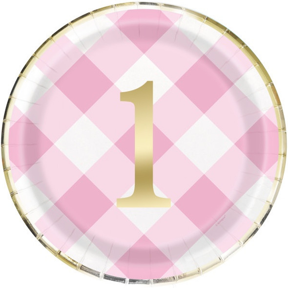 Pink 1st Party Plates