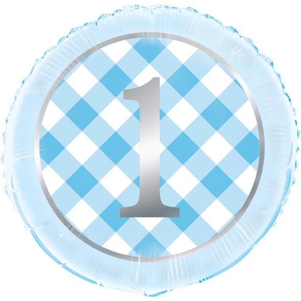 Blue 1st Foil Balloon