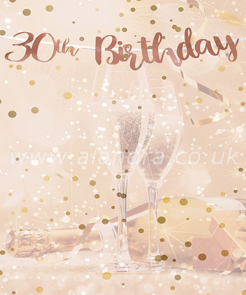Rose Gold 30th Birthday Banner