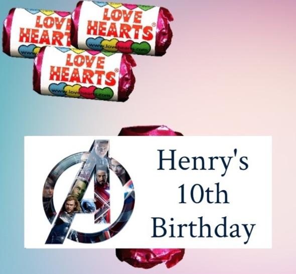 9Pk Avengers Loveheart Sweets