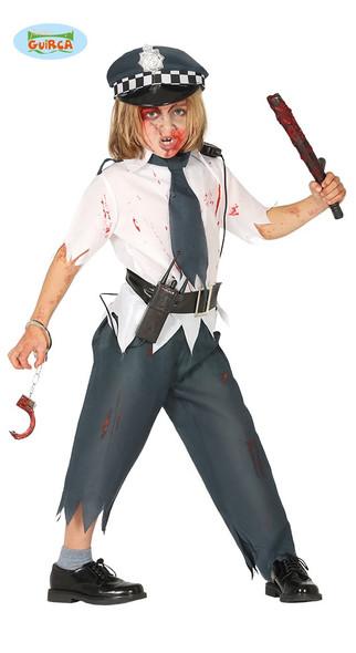 Zombie Police Boy Costume