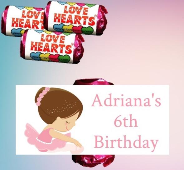 9Pk Ballerina Loveheart Sweets