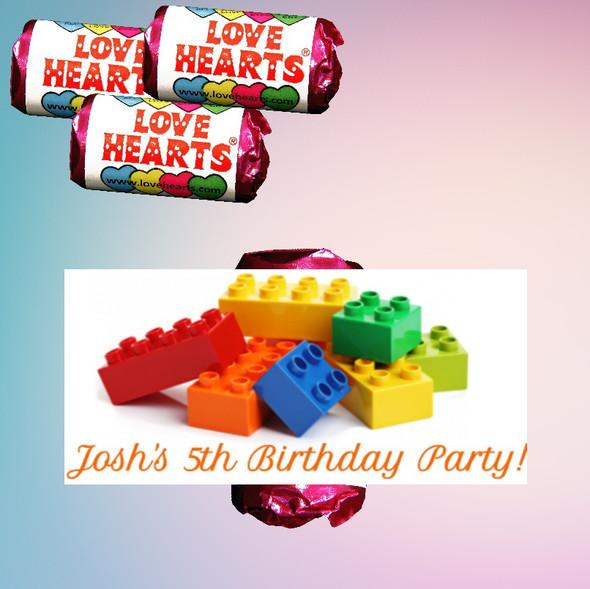 9Pk Birthday Lego Lovehearts