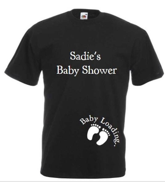 Baby Shower Black T-Shirt