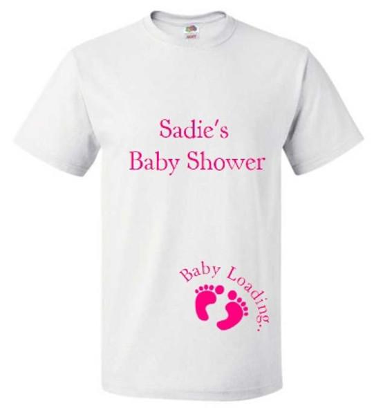 Baby Shower White T-Shirt