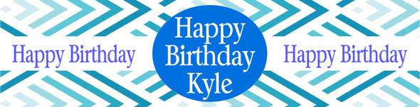 Birthday Boy Blue Banner