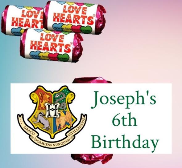 9Pk Harry Potter Lovehearts