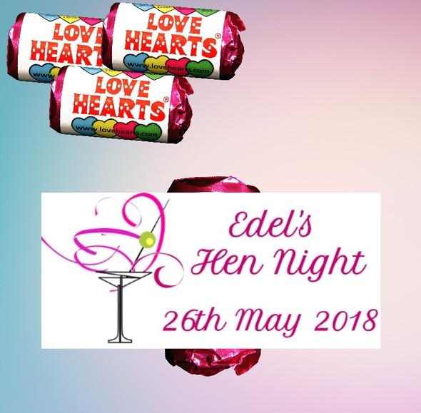 Personalised Hen Night Lovehearts