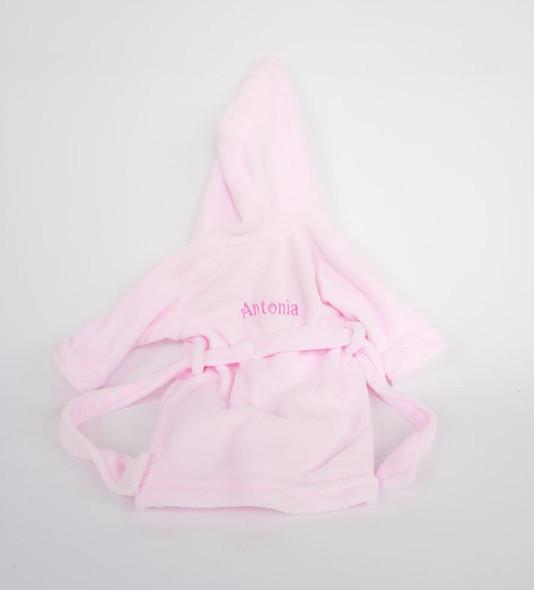 Personalised Pink Bathrobe